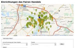 Fair einkaufen wird leichter: Stadtplan für fairen Handel ab sofort online